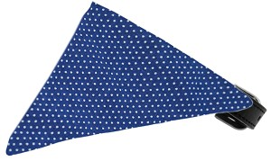 Navy Swiss Dots Bandana Pet Collar Black Size 10