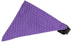 Purple Swiss Dots Bandana Pet Collar Black Size 14