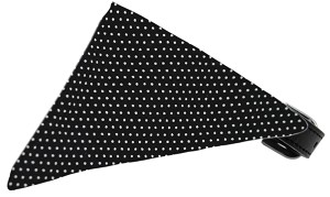 Black Swiss Dots Bandana Pet Collar Black Size 16