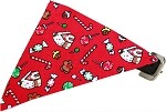 Candy Land Bandana Pet Collar Black Size 10