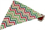 Christmas Chevron Bandana Pet Collar Red Size 10