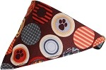Fall Paw Bandana Pet Collar Black Size 10