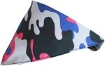 Urban Chick Camo Bandana Pet Collar Black Size 10