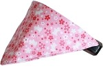Pink Scottie Bandana Pet Collar Black Size 10
