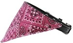 Bright Pink Western Bandana Pet Collar Black Size 10
