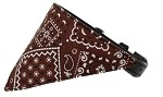 Brown Western Bandana Pet Collar Black Size 10
