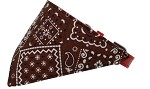 Brown Western Bandana Pet Collar Red Size 10