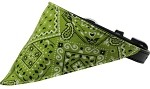 Lime Green Western Bandana Pet Collar Black Size 10