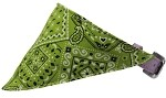 Lime Green Western Bandana Pet Collar Lavender Size 10