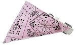 Light Pink Western Bandana Pet Collar White Size 10