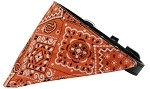 Orange Western Bandana Pet Collar Black Size 10