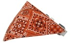Orange Western Bandana Pet Collar White Size 10