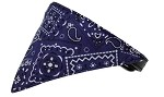 Purple Western Bandana Pet Collar Black Size 10