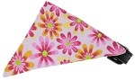 Light Pink Crazy Daisies Bandana Pet Collar Black Size 10