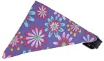 Lavender Crazy Daisies Bandana Pet Collar Black Size 10