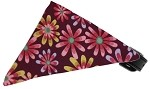 Royal Purple Crazy Daisies Bandana Pet Collar Black Size 10
