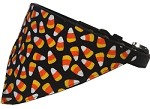 Candy Corn Bandana Pet Collar Black Size 10