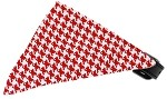 Red Houndstooth Bandana Pet Collar Black Size 10
