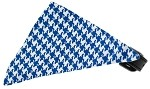 Primary Blue Houndstooth Bandana Pet Collar Black Size 10