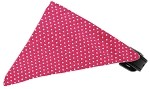 Bright Pink Swiss Dots Bandana Pet Collar Black Size 10