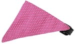 Bubblegum Pink Swiss Dots Bandana Pet Collar Black Size 10