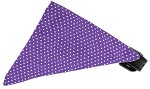 Purple Swiss Dots Bandana Pet Collar Black Size 10