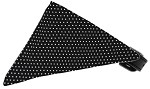Black Swiss Dots Bandana Pet Collar Black Size 10