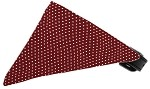 Maroon Swiss Dots Bandana Pet Collar Black Size 10