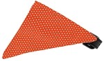 Orange Swiss Dots Bandana Pet Collar Black Size 10