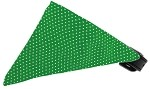 Emerald Green Swiss Dots Bandana Pet Collar Black Size 10