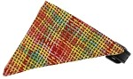 Autumn Party Plaid Bandana Pet Collar Black Size 10