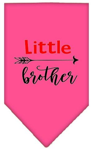 Little Brother Screen Print Bandana Bright Pink Small