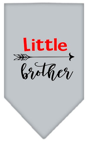 Little Brother Screen Print Bandana Grey Small
