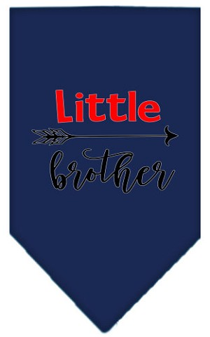 Little Brother Screen Print Bandana Navy Blue large
