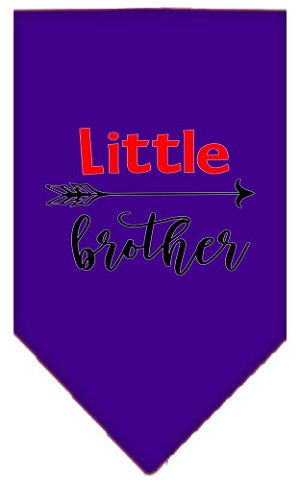 Little Brother Screen Print Bandana Purple Large