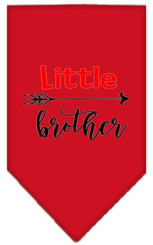 Little Brother Screen Print Bandana Red Small
