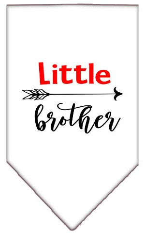Little Brother Screen Print Bandana White Small