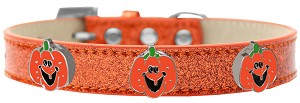 Enamel Pumpkin Halo Dog Collar Orange Ice Cream Size 16