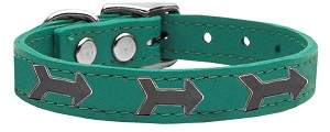 Arrow Widget Genuine Leather Dog Collar Jade 20