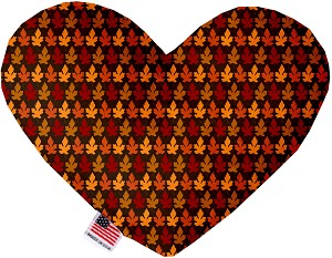 Autumn Leaves 6 Inch Heart Dog Toy