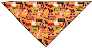Witches Delight Tie-On Pet Bandana Size Small