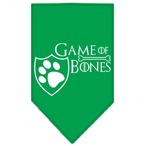 Game of Bones Screen Print Bandana Emerald Green Large