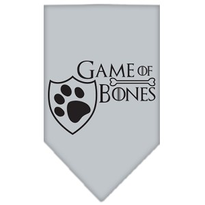 Game of Bones Screen Print Bandana Grey Large