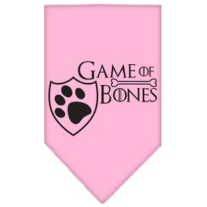 Game of Bones Screen Print Bandana Light Pink Large
