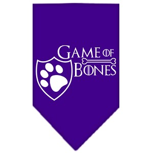 Game of Bones Screen Print Bandana Purple Small