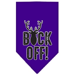 Buck Off Screen Print Bandana Purple Large