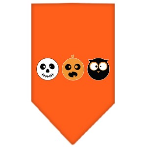 The Spook Trio Screen Print Bandana Orange Small