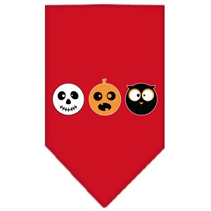 The Spook Trio Screen Print Bandana Red Small