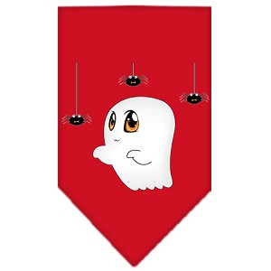 Sammy the Ghost Screen Print Bandana Red Small