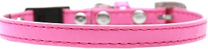 Plain Breakaway Cat Collar Bright Pink Size 12